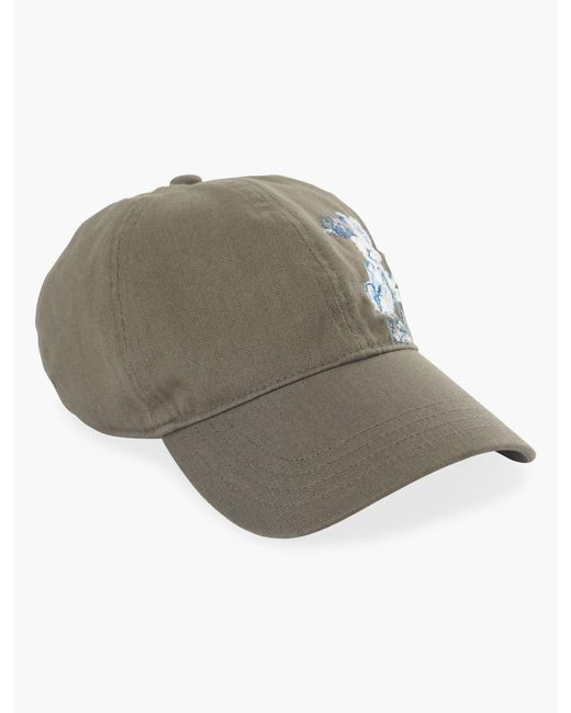 Lucky Brand - Green Embroidered Floral Baseball Hat - Lyst