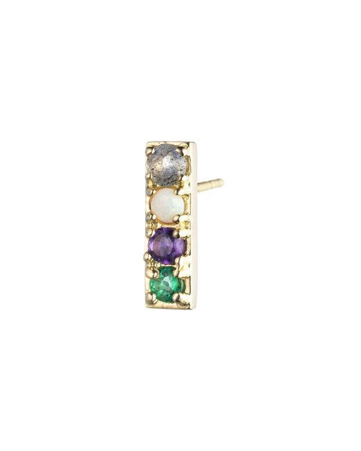 Lulu Frost - Multicolor Code Word Love Earring 14k Gold - Lyst