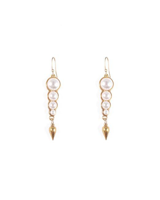 Lulu Frost - Metallic Pearl Line Earring - Lyst