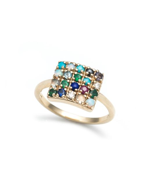 Lulu Frost - Multicolor Code Word To Thine Own Self Be True Ring 10k Gold - Lyst