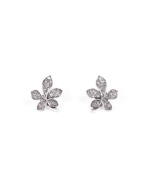 Lulu Frost - Metallic Oleander Stud Earring - Clear - Lyst