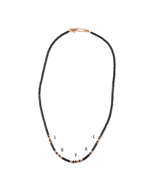 Lulu Frost | Black George Frost G. Frost Morse Necklace - Loyal | Lyst