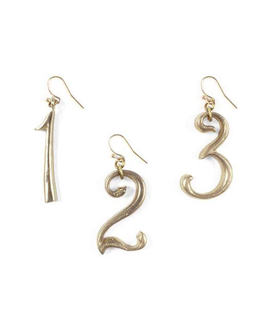 Lulu Frost | Metallic Plaza Number Earring | Lyst