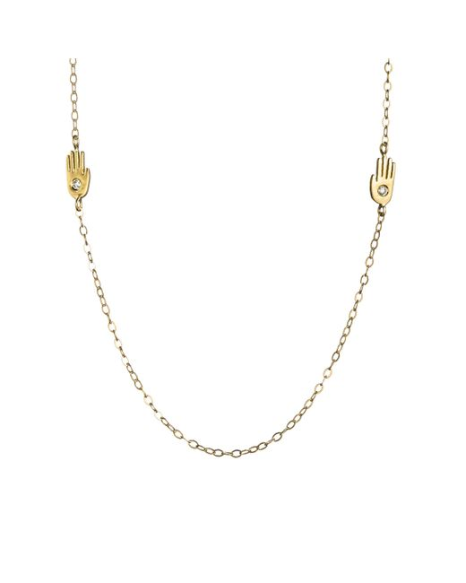 Lulu Frost | Multicolor Double Palm Necklace 18kt | Lyst