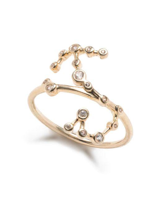 Lulu Frost - Metallic Zodiacs 14k & Diamond Scorpio + Water Ring - Lyst