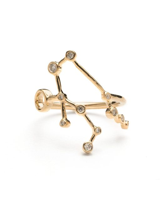 Lulu Frost - Metallic Zodiacs 14k Gemini + Air Ring - Lyst