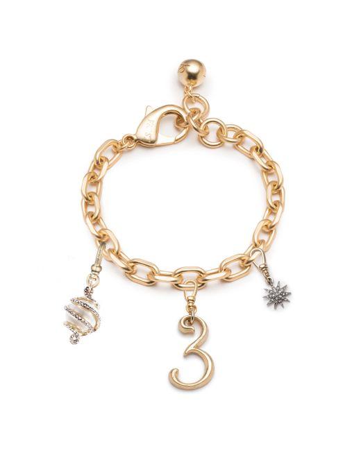 Lulu Frost - Metallic Plaza Multi-charm Bracelet - Lyst