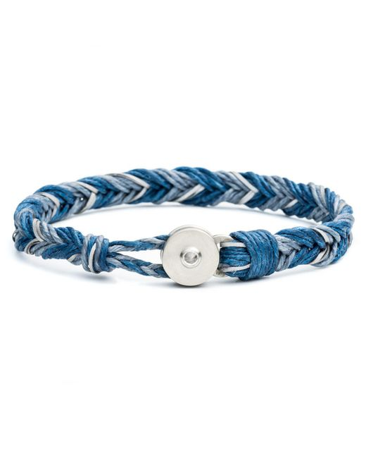 Lulu Frost - George Frost Woven Reflective Bracelet - Blue for Men - Lyst
