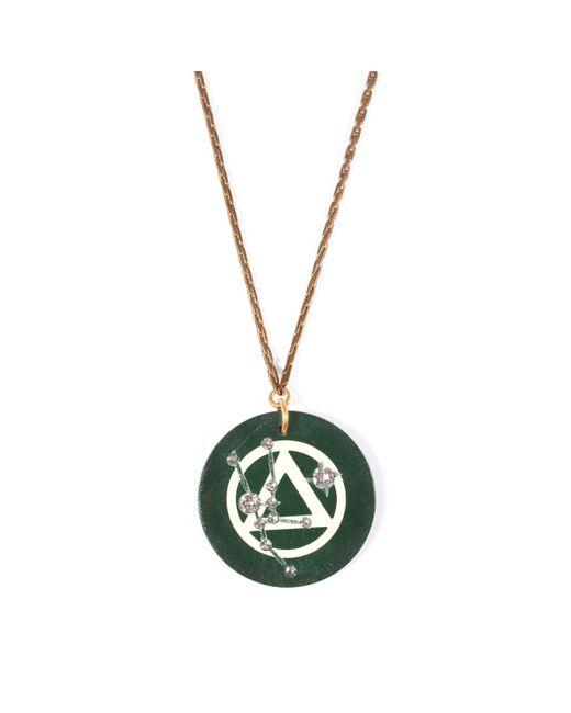 Lulu Frost - Multicolor Vintage Zodiacs Poker Chip Pendant Necklace - Taurus Green - Lyst