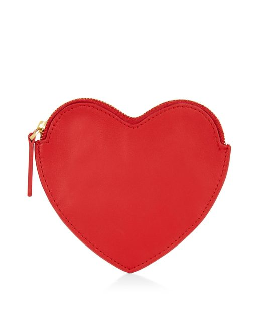 Lulu Guinness | Classic Red Novelty Heart Coin Purse | Lyst