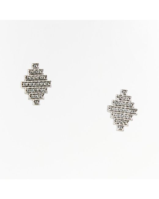 "Dana Rebecca - Metallic 14k White Gold Diamonds ""jeb"" Stud Earrings - Lyst"