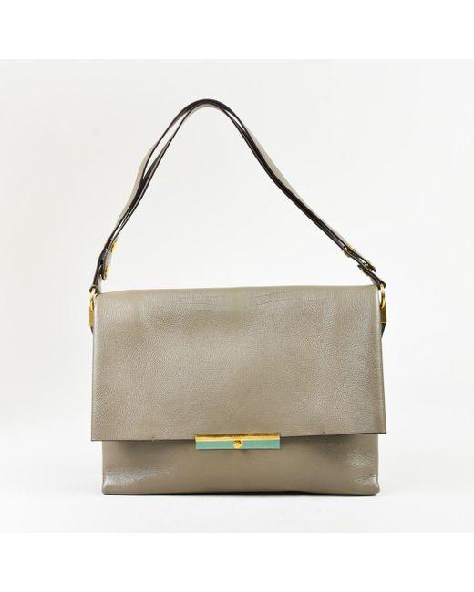 Lyst - Céline Blade Bag Calf Grey Bag in Gray 8fe936906a24b
