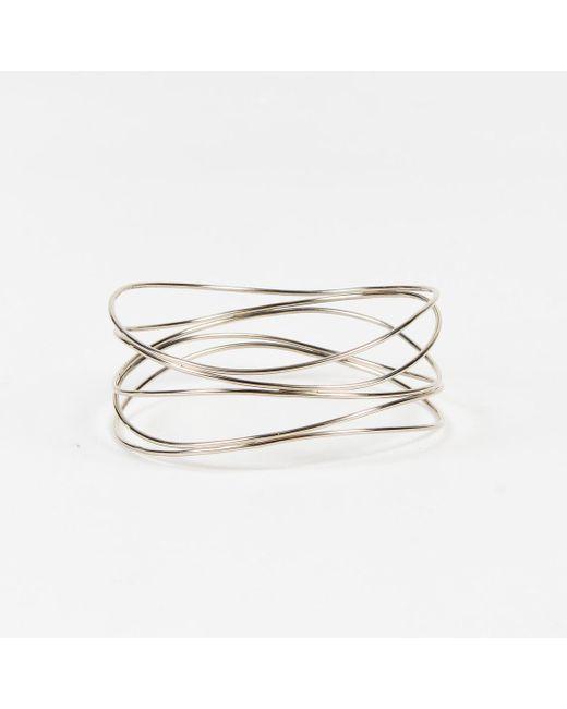 "Tiffany & Co - Metallic X Elsa Peretti 18 Karat White Gold ""wave Five Row"" Bracelet - Lyst"