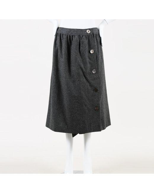 e52970ce30a Lyst - Céline Asymmetric A Line Skirt in Gray