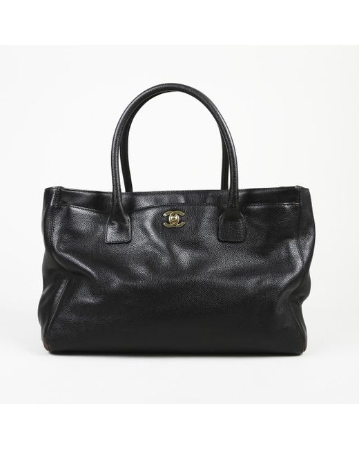 """Chanel Brown Leather """"executive Cerf"""" Tote Bag"""