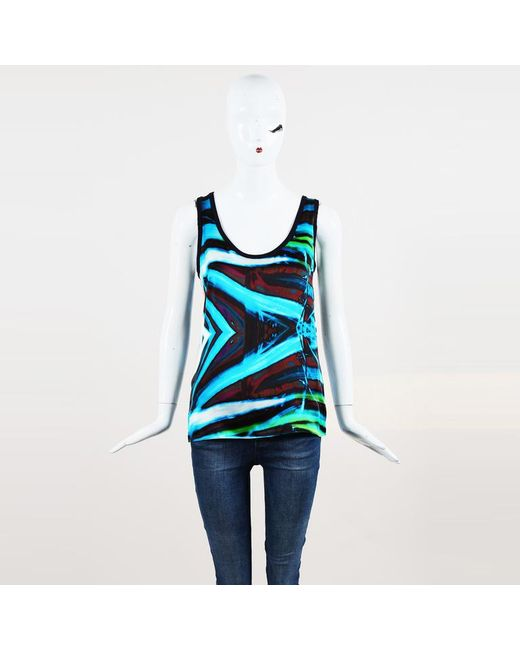 Barbara Bui - Blue Striped Tank Top - Lyst