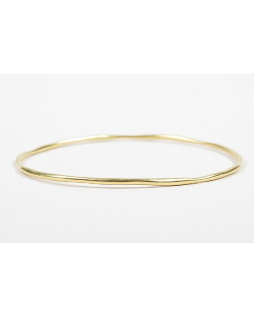 "Ippolita - Metallic 18k Yellow Gold ""glamazon Squiggle"" Skinny Bangle Bracelet #2 - Lyst"