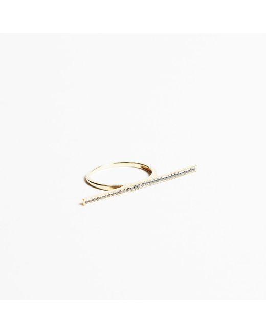 Dana Rebecca - Metallic 14k Yellow Gold & Diamonds Ring - Lyst