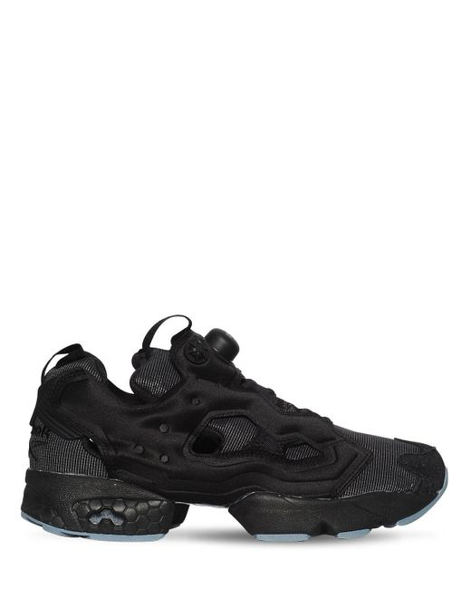 Reebok Black Instapump Fury Nylon Sneakers for men
