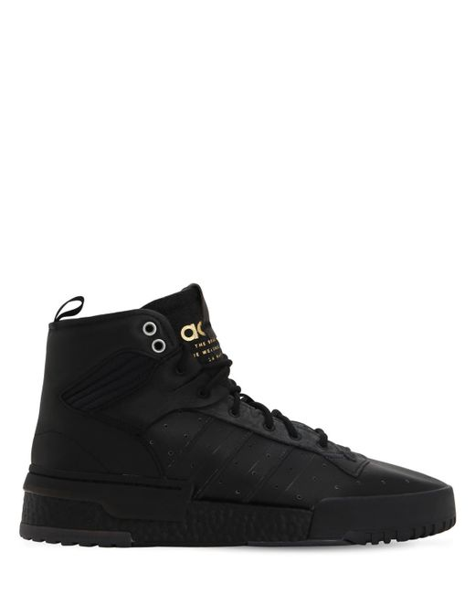 pretty nice d5872 9b4a9 Adidas Originals - Black Rivalry Rm Leather High Top Sneakers for Men - Lyst  ...
