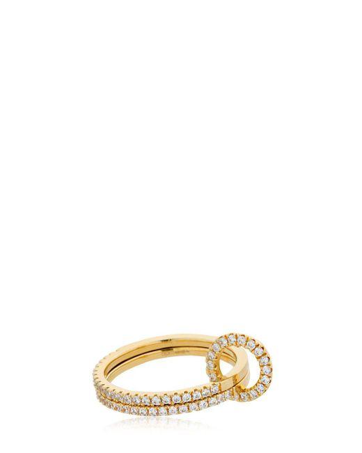 Apm Monaco - Metallic Double Finger Ring - Lyst