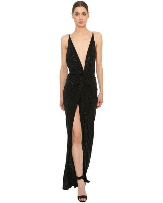 Alexandre Vauthier - Black Knot Embellished Jersey Dress - Lyst