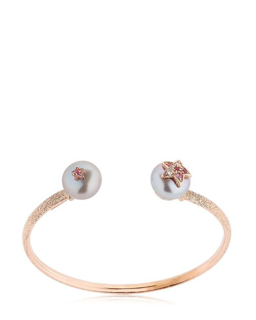 Carolina Bucci | Metallic Pearl Rose Gold Bangle Bracelet | Lyst