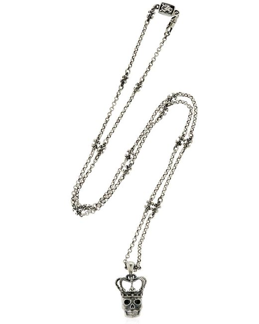 Cantini Mc Firenze | Metallic Skull Pendant Silver Necklace for Men | Lyst