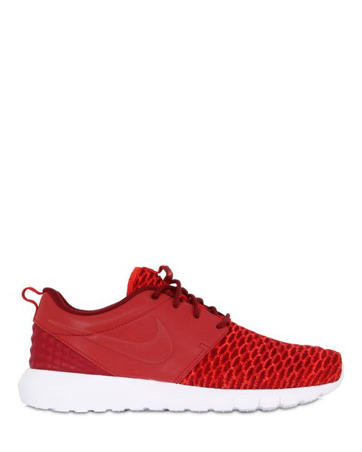 Nike | Red Roshe Run Natural Motion Prm Sneakers for Men | Lyst