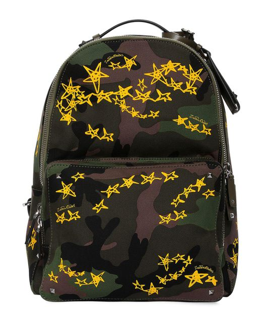 Valentino | Multicolor Zandra Rhodes Stars Camo Backpack for Men | Lyst