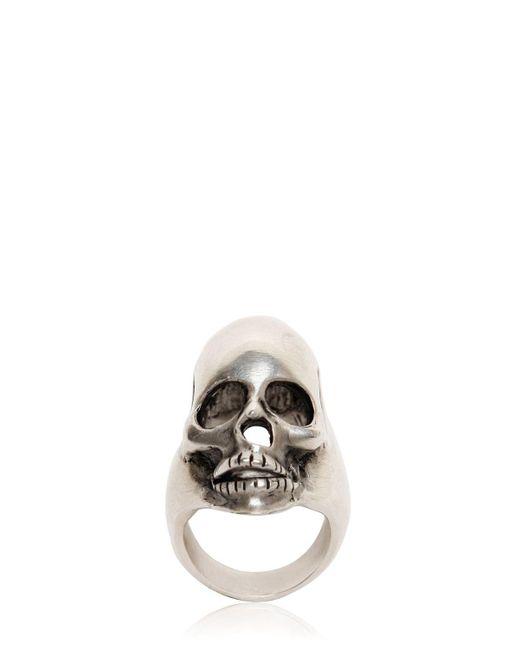 Saint Laurent - Metallic Skull Ring for Men - Lyst