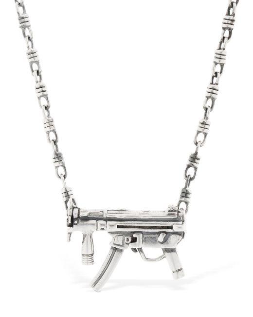 Cantini Mc Firenze - Metallic Gun Pendant Silver Necklace for Men - Lyst