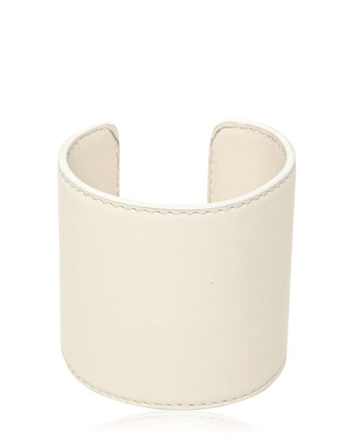 Ann Demeulemeester | White Leather Cuff Bracelet | Lyst