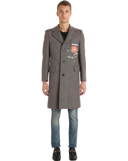 Gucci - Gray Cappotto In Lana for Men - Lyst