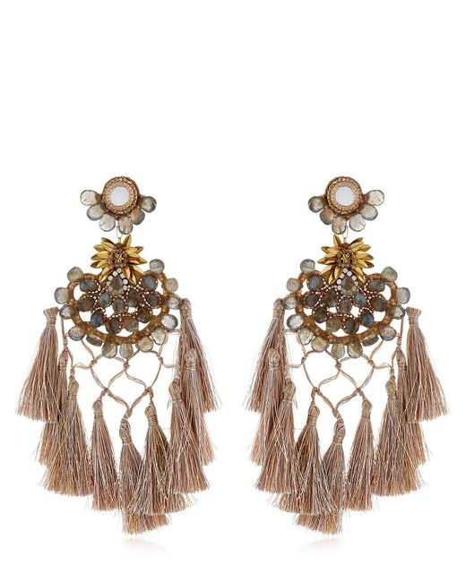 Deepa Gurnani - Metallic Cwen Earrings - Lyst