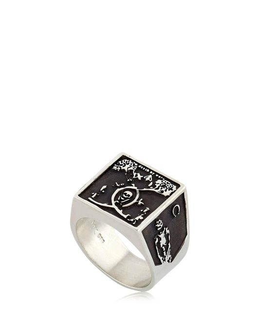 Meadowlark | Metallic Death By Work Oxidized Chevalier Ring | Lyst