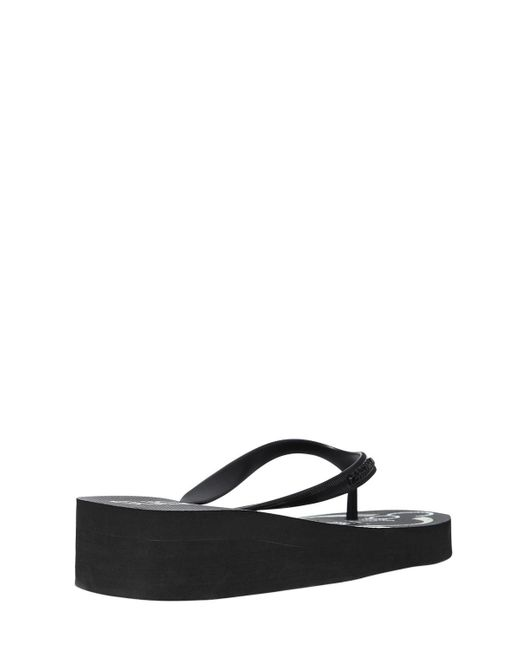 79300fe5ca18 ... Calvin Klein - Black 40mm Tesse Rubber Platform Flip Flops - Lyst ...