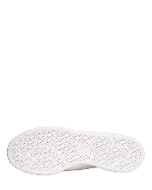lyst adidas originali stan smith primeknit scarpe bianche per gli uomini.