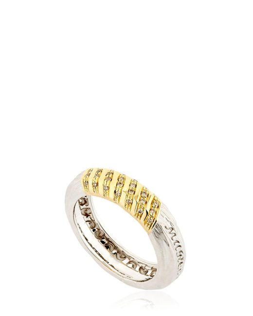 MARCO DAL MASO - Metallic The Other Half White Gold Ring - Lyst