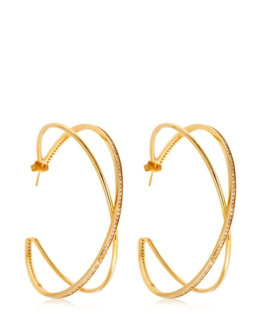 Joanna Laura Constantine - Metallic Large Criss Cross Earrings - Lyst