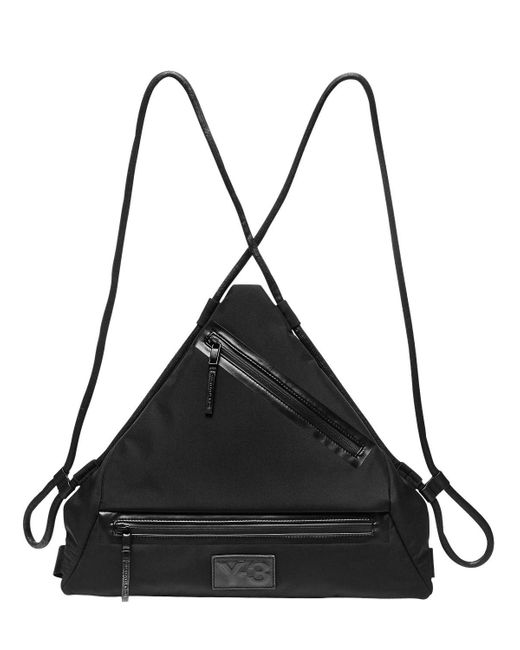 Y-3 - Black Qasa Triangle Nylon Backpack for Men - Lyst