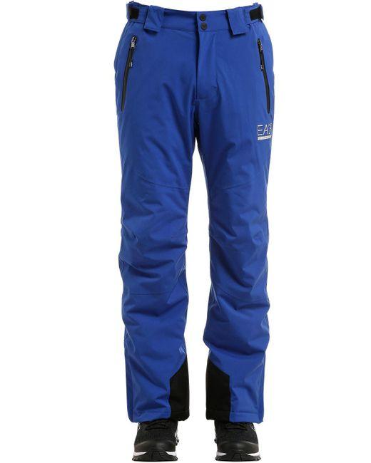 """EA7 - Blue Pantalones De Esquí """"mountain"""" for Men - Lyst"""