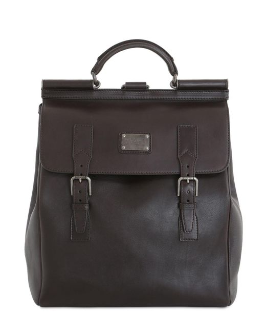 Dolce & Gabbana | Brown Leather Maxi Backpack for Men | Lyst