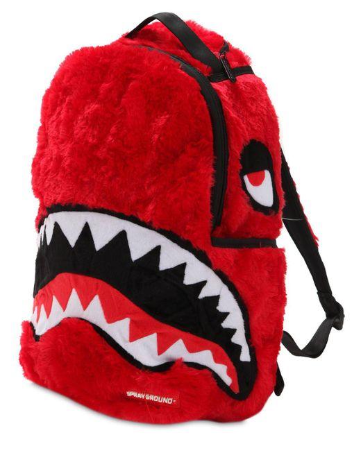 "Sprayground - Red Rucksack ""fur Monster"" for Men - Lyst"