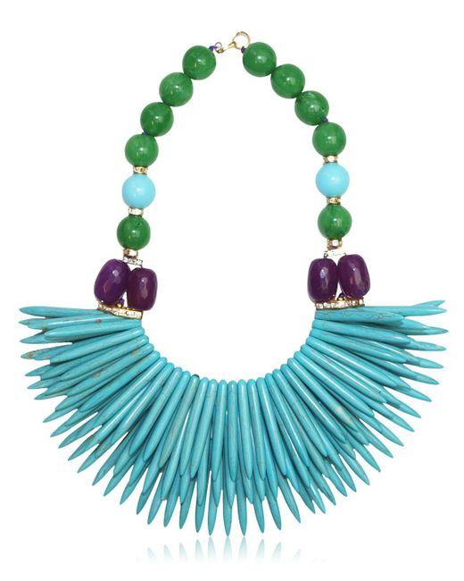 Katerina Psoma - Blue Nuwa Fringed Beaded Necklace - Lyst