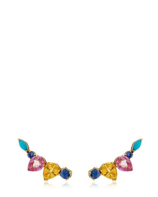 Sarah Noor - Multicolor Sapphire Cluster Earrings - Lyst