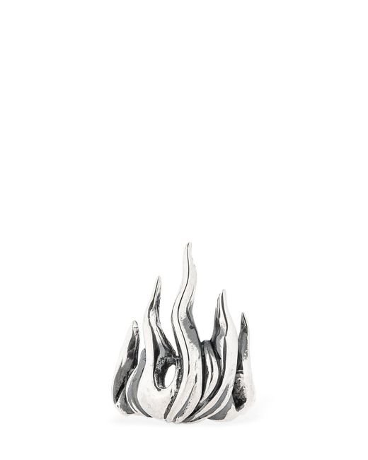"Cantini Mc Firenze - Metallic Ring ""flame"" for Men - Lyst"