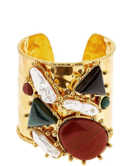 Sylvia Toledano | Metallic Manchtte Artsty Cuff Quartz Bracelet | Lyst