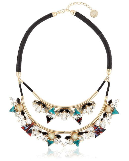 Anton Heunis - Metallic Art Deco Expression Necklace - Lyst
