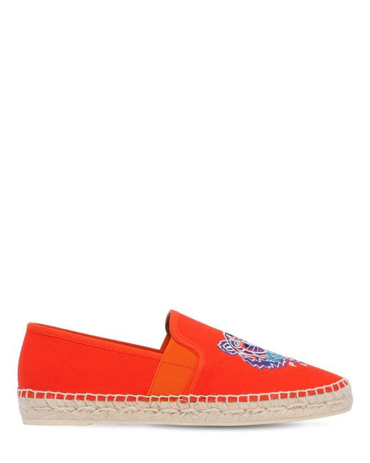 KENZO - Multicolor 20mm Tiger Cotton Canvas Espadrille - Lyst